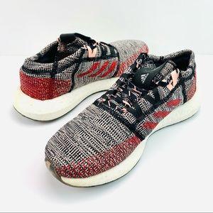 Adidas Pureboost Go Ren Zhe Running Shoes Black/Scarlet/Clear Orange